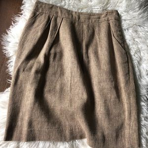Tweed Anthropologie Pencil Skirt with Pockets